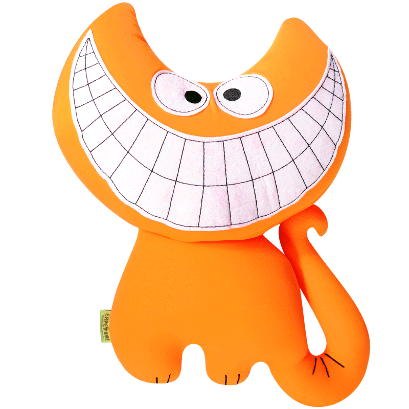 """Мягкая игрушка-антистресс """"Кошка улыбается немножко"""""""