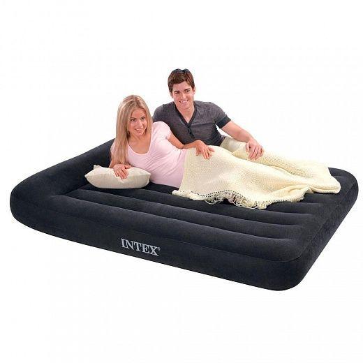 Надувной матрас с подголовником Intex Pillow Rest Classic Airbed