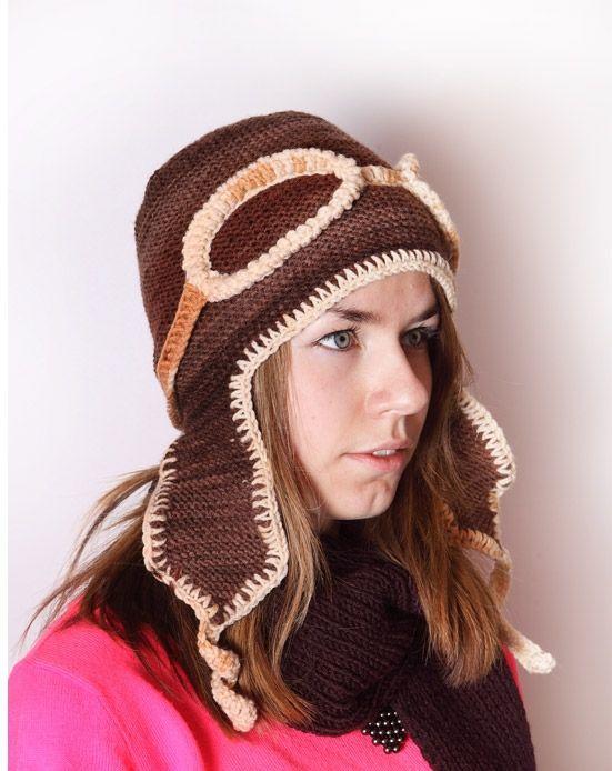 Шлем летчика вязаный - купить вязаную шапку шлем в ...