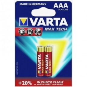 Батарейка Varta LR03 Max Tech BP2